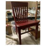 Red sold wood chair