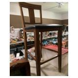 Tall bar stool - wooden