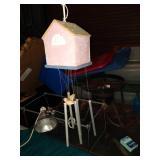 Birdhouse wind chimes