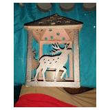 Candle lantern with deers