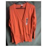 New orange cardigan size large