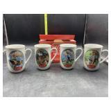 5 Coca Cola collectors mugs