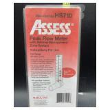Assess peak flow meter