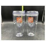 The Home Depot travel wine glass tumblers -