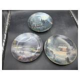 3 collectors decorative plates