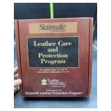 Leather care and protection program