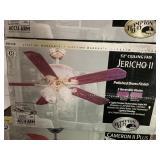 Jericho II 52in ceiling fan - polished brass