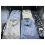 4 Stafford button up dress shirts and clip on