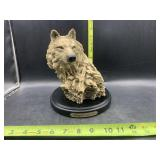 Wellington collection wolf statue
