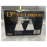 13in wall fixture - new in box