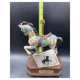 Musical carousel horse
