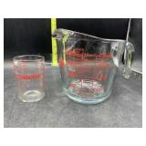 4 cup & 1 cup glass measuring cups