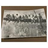 Working men on lunch break poster 25x37in