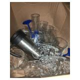 Misc drinking glasses and coffee mugs