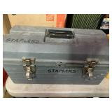 Toolbox with stapler, staples and more