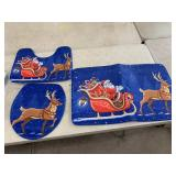 New - Christmas bathroom rugs
