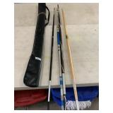 4 martial art sticks used for stick fighting