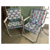 2 aluminum folding chairs