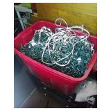 Tote of assorted Christmas lights.