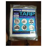 New 9ft by 12ft medium duty all purpose tarp