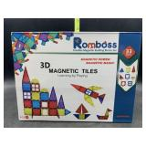 Romboss 3d magnetic tiles - 33 pieces- great for
