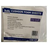 New- 12x12 100count cushion foam sheets for