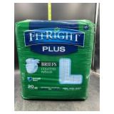 Fitright plus briefs size large - 20 count