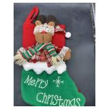 New 3d Reindeer Christmas stocking