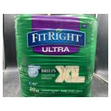 Fitright plus briefs size X-large - 20 count