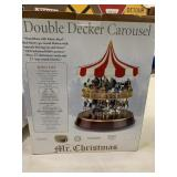 Mr. Christmas double decker carousel - musical -