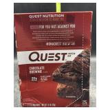 Quest protein bars - chocolate brownie- 12 bars