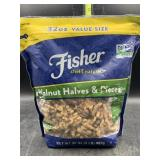 Fisher walnut halves & pieces - 32oz. - does have