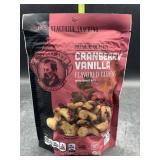 Cranberry vanilla flavored cashews 7oz - gluten