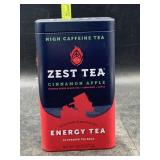 High caffeine tea- zest tea- cinnamon apple -