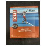 Clif bar - crunchy peanut butter - 6 energy bars