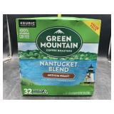 Green mountain coffee kcups - 32 Nantucket blend