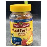 Nature made multi for him + omega-3s gummies - 80