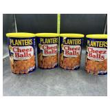 4 containers planters cheese balls 2.75oz each