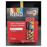 Kind dark chocolate cherry cashew - 12 bars -
