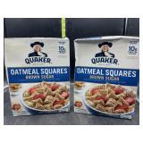 2 boxes Quaker oatmeal squares - brown sugar -