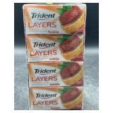 Trident layers strawberry & citrus sugar free gum