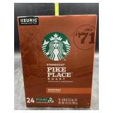 Starbucks pike place roast 24 kcup pods- medium