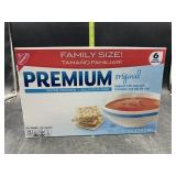 Family size saltine crackers - 6 individual packs