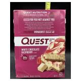 Quest protein bars / white chocolate raspberry -