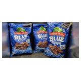 3 Large Bags  Blue Chips (Corn Tortilla Chips)