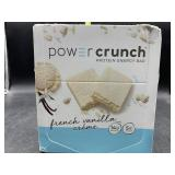 Power crunch protein energy bar - 12 bars- French