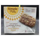 Soft baked almond flour bars - nutty banana bread