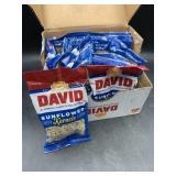 David sunflower seeds roasted & salted 12/3.75oz