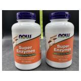 2 super enzymes bottles - 180 capsules each