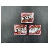 3 extra cinnamon sugar free gum - 15 sticks each